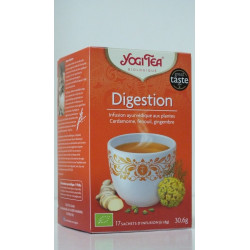 Yogi tea Digestion infusion ayurvédique aux plantes Cardamome fenouil gingembre