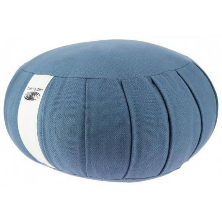 Zafu de kapok grand rond bleu