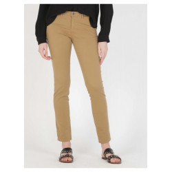 *Pantalon Chino slim-fit School rag Marron Cloée 849 Tabac