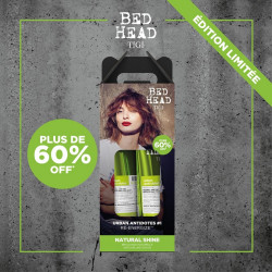 pack duo shampoing 250 ml + soin 200 ml re-energize tigi