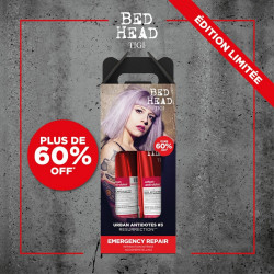 pack duo shampoing 250 ml + soin 200 ml resurrection tigi