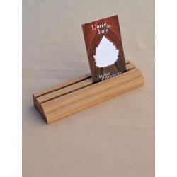 Chevalet porte-cartes en bois