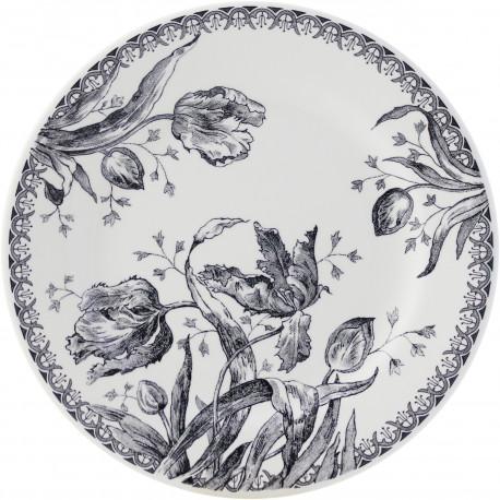 Plat à gâteaux Tulipes, Faïencerie de GIEN