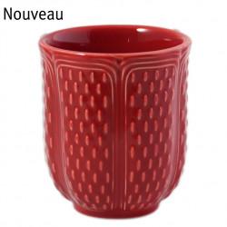 Gobelet à thé rubis, Pont aux Choux, Faïencerie de GIEN