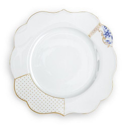 6 Assiettes plates Royal White, Pip Studio