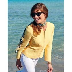 veste chic jaune Christine Laure