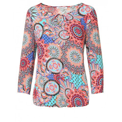 blouse a motifs rosaces Christine Laure