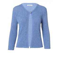 Gilet bleu Christine Laure Espace mode du Coteau Roanne