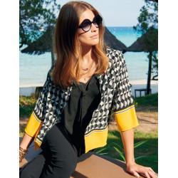 blouse graphique 2 en 1 Christine Laure