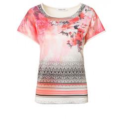 tee-shirt chic a fleurs,Christine Laure