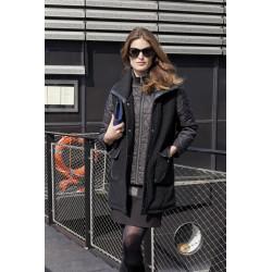Robe chic noire et tweed Christine Laure