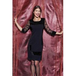Robe habillée noire Christine Laure