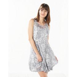 Robe habillée grise Christine Laure