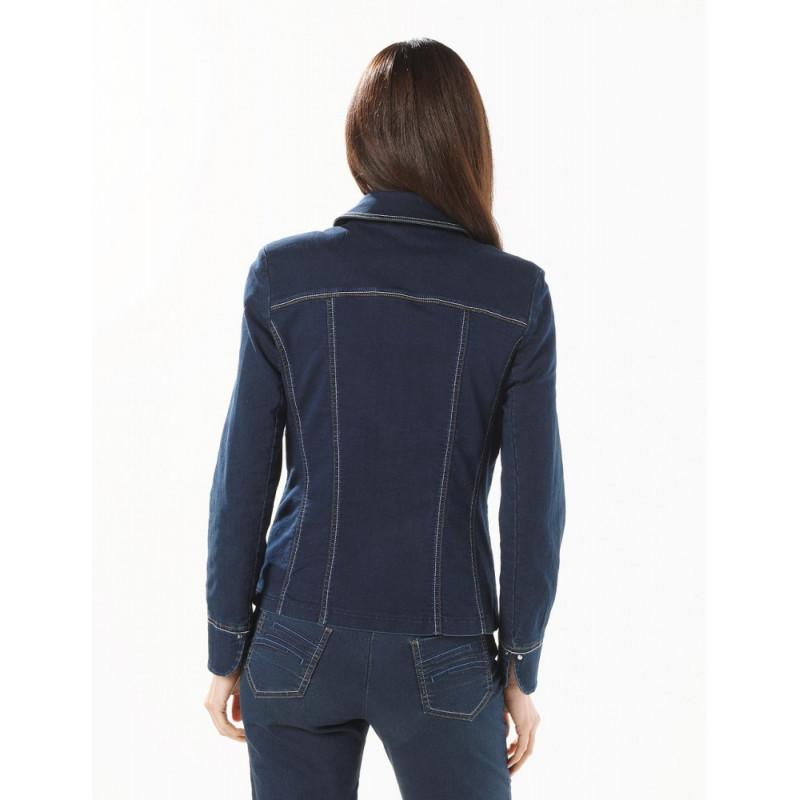 christine laure veste femme en jean