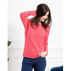 Pull tricot rayé couleur fuchsia Christine Laure