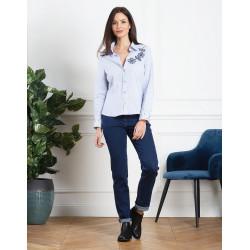 Chemise rayée bleue Christine Laure