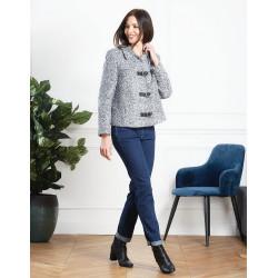 veste grise en lainage Christine Laure ref A4451 Espace mode du coteau Roanne