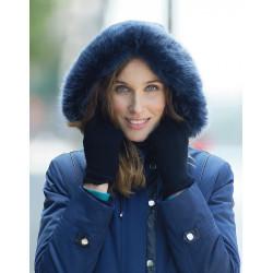 Parka bleu Christine Laure ref A 4590 Espace mode du Coteau Roanne