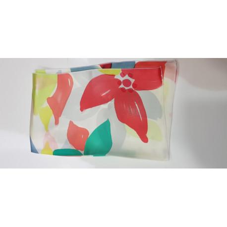 Foulard en soie naturelle peint a la main Daniel Vial Espace Mode du Coteau Roanne