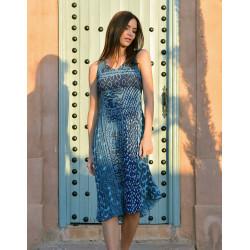 Robe Cérémonie plissée turquoise plus le boléro Christine Laure