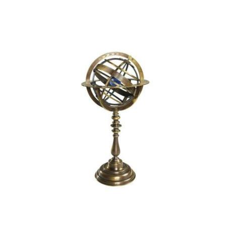Globe sphère armillaire bronzée