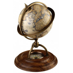 Globe Terrestre support boussole
