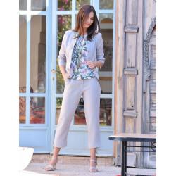 Tee-shirt floral blanc Christine Laure BO227 Espace Mode du Coteau Roanne