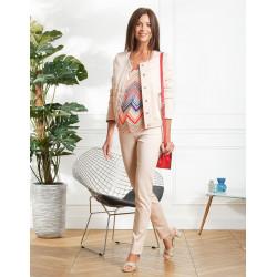 Tee-shirt rose fantaisie Christine Laure ref BO032 Espace mode du Coteau Roanne