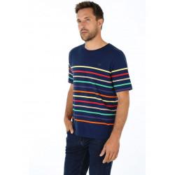 T-Shirt rayé 7 couleurs Deauville Armor Lux 39371