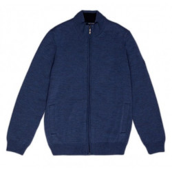 Veste tricot zippée Colorado Jean/Navy Saint James