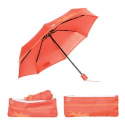 Parapluie pliant Beau Nuage L'Original Corail Exotique Maroquinerie Quey Charlieu