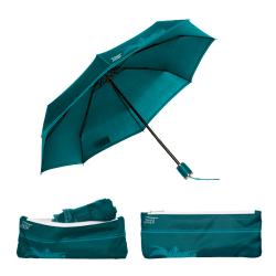 Parapluie pliant Beau Nuage L'Original Bleu Lagon Maroquinerie Quey Charlieu