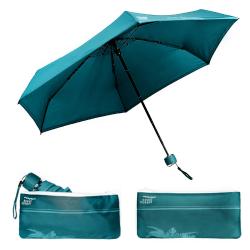 Parapluie pliant beau Nuage Le Mini Bleu Lagon Maroquinerie Quey Charlieu