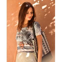 Tee-shirt imprimé floral Christine Laure ref BO033 Espace Mode Du Coteau Roanne