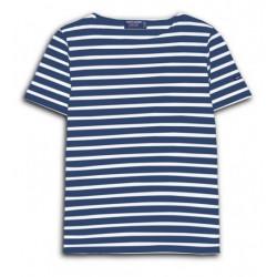 Tee-shirt manches courtes Etrille Marine/Neige Saint James
