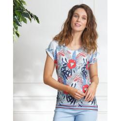 Tee-shirt floral Christine Laure ref BO139 Espace Mode Du Coteau Roanne