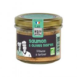 Mousse à tartiner, Saumon et olives noires Bio