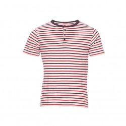 T-shirt manches courtes col tunisien coton & lin 75144 Armor Lux