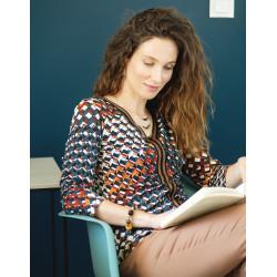 Tee-shirt orange imprimé Christine Laure Espace Mode Du Coteau Roanne