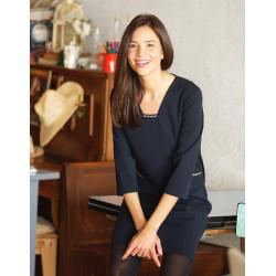 Robe chic bleu nuit Christine Laure Espace mode du coteau Roanne