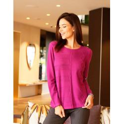 Pull fantaisie violet Christine Laure ref B 2600 Espace Mode Du Coteau Roanne