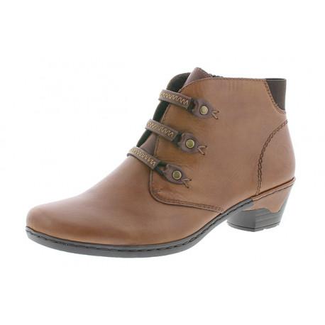 Chaussures cuir femme Rieker antistress souple confortable et belle