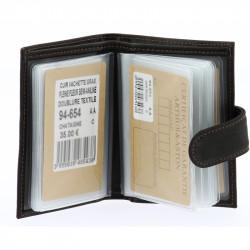 Porte-cartes cuir Arthur & Aston 94 654 C Châtaigne-Maroquinerie Quey Charlieu