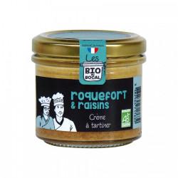 Spécialité à tartiner, Roquefort et raisins Bio