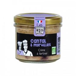 Spécialité à tartiner, Cantal et myrtilles bio