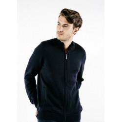 Veste tricot zippée Colorado Navy/Gris