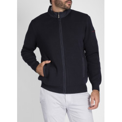 Blouson tricot zippé Navigateur Navy