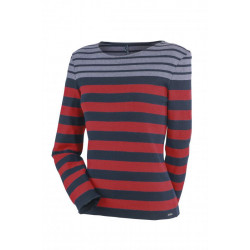 Pull col rond Chaumont Navy/Persan