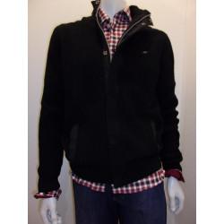 Blouson tricot zippé 142-331 Noir