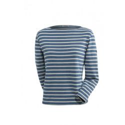 T-Shirt Glénans Délavé Indigo/Ecru